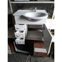 Gabinete Banheiro Completo Com Pia Torneira 58x50x30