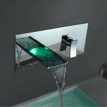 Torneira Para Banheiro De Metal Com Cascata Led De Embutir