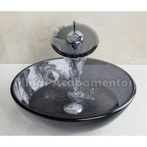 Cuba Apoio Banheiro 42 Cm + Torneira Cascata + Valvula