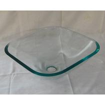 Cuba De Vidro Incolor Para Banheiro - Quadrada Small - 36cm
