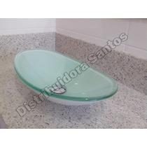 Cuba De Vidro Oval Para Banheiro, Bancada, Pia - 48x32x13