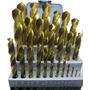Jogo De Broca 1,0-13,0mm C/ Titânio C/ 25 Pçs - Ws Drills