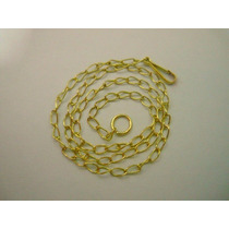 Tornozeleira Correntinha Ouro 18k/750 24cm 1,2 Gr Elos 2x3
