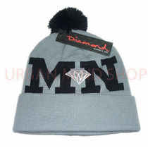 Touca / Gorro Diamond Supply Cinza Mn Original Importado