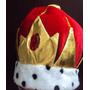 Coroa Em Pelúcia Rei Príncipe Para Fantasia Adulto Luxo