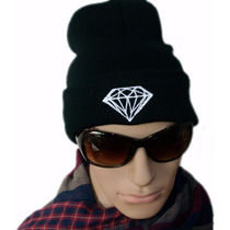 Touca Lã Diamond Black Gorro Hip Hop Unissex Pronta Entrega