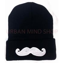 Touca / Gorro Bigode Grosso Mustache Preto - Pronta Entrega