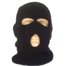 Touca Ninja Balaclava 3 Furos P/ Frio Inverno Motoqueiro Mot