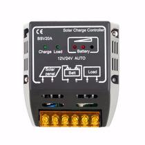 Controlador De Carga Para Painel Solar 20 Amperes 12v E 24v