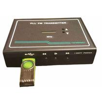 Tx890fm Transmissor De Fm 1watt, Pll, Estéreo Com Usb/frete