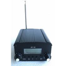 Transmissor Fm Pll 7w Profissional Stereo