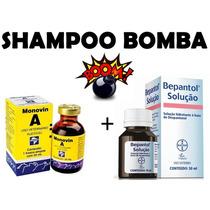 Kit Faça Shampoo Bomba Monovin A + Bepantol Shampoo Bomba