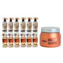 Kit Loréal Ampola Powerdose - 12 Unidades + Mascara 500g
