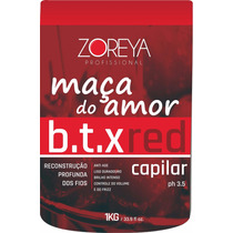 Botox Vermelho 1 Kg Zoreya Profissional Creme Alisante Ruiva