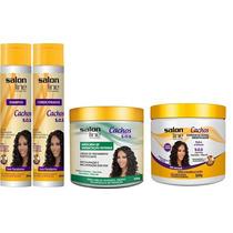 Kit S.o.s Cachos Salon Line Shamp, Cond, Mascara E Ativador