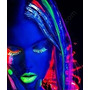 Gel Neon Fluorescente Vermelho Cabelo 150g Brilha Luz Negra