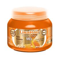 Novo Lisa Hair Creme Alisante Profissional Mel 550g