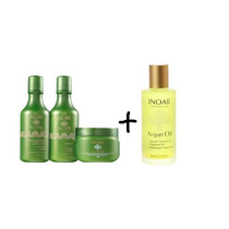 Oleo De Argan Serum 60ml +inoar Argan Oil Hair Kit (3 Prod)