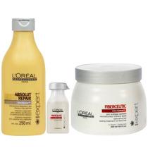 Loreal Kit Fiberceutic Sh 250ml + Másc 500ml + 2 Ampola