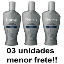 Shampoo Desamarelador Amend Cabelos Grisalhos Kit 03 Unid.