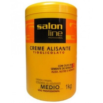 Alisante Tioglicolato Medio - 1 Kg - Salon Line Profissional
