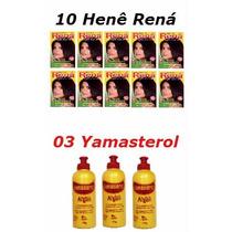 Kit 10 Henê Rená Gel + 03 Yamasterol Argan