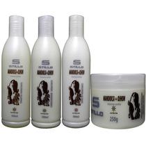 Kit Hidratação Pós Progressiva Cor Mandioca Ojhon 4 Produtos