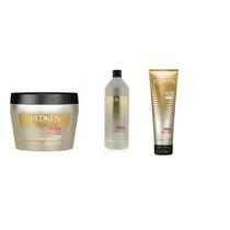 Redken Frizz Dismiss Kit Shampoo 1000ml, Máscara E Leave In