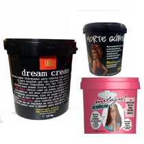 Creme Milagre 1kg + Morte Súbita 1kg + Dream Cream 3kg Lola