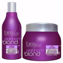 Forever Liss Platinum Blond Kit Pós +óleo De Argan De Brinde
