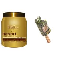 Banho De Verniz Hidratação Extremo 1kg+escova De Bolsa Bambu