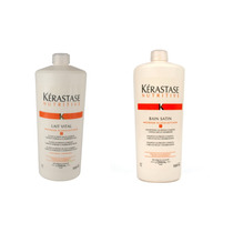 Kérastase - Nutritive - Bain Satin 1l + Cond Lait Vital 1l
