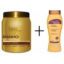 Cauterização Capilar Profissional + Shampoo Anti Resíduos