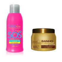 Forever Liss Banho De Verniz Hidratação 250 Gr + Sos Miracle