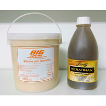 Kit Lánoly Balde Creme Silicone 3,6 Kg + Queratina 2 Litros