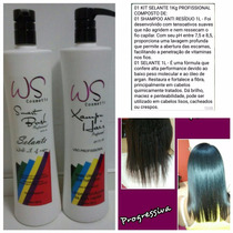 Ws Cosmetic Kit Selante 1l Profissional Sem Formol Blacx Fix