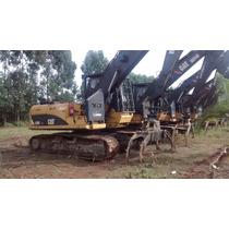 Escavadeira Cat 320d Fm Com Garra Florestal