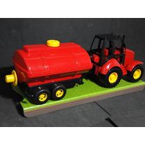 Trator Agricola Reboque Tanque Comp=42cm Larg=12cm Alt=16cm