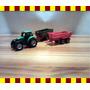 Miniatura De Trator Agrícola (com 02 Carretas) 1/87