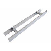 Puxador Duplo Alumínio 80 Cm Porta Pivotante Madeira/vidro
