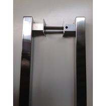 Puxador Blindex Pivotante Quadrado 25x25x60cm Aço Inox