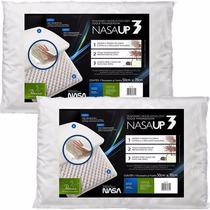 2 Travesseiro Viscoelástico Fibrasca Toque Macio - Nasa Up3