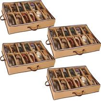 4 Sapateira Flexivel 12 Pares D Calçado Organizadora Sapatos