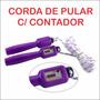 Corda Pular C/ Contador E Regulagem Da Corda - 24 Peças