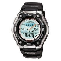 Casio Aqw101-1av Pesca Timer Ana Digital
