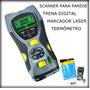 Scanner Parede Fio Metal Trena Digital Termômetro Regua Lase