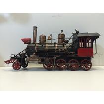 Miniatura Metal Retro Trem Maria Fumaça Locomotiva