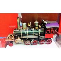 Locomotiva Maria Fumaça Retrô Miniatura Trem Metal 35cm