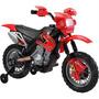 Moto Eletrica Intanfil Vermelha/preto Recarregável Bivolt