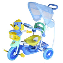 Triciclo Infantil Carrinho Passeio Bebê C/ Toldo Proteção.